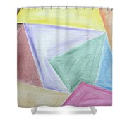 Abstract 437 Shower Curtain