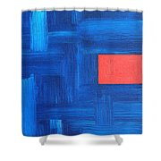 Abstract 443 Shower Curtain