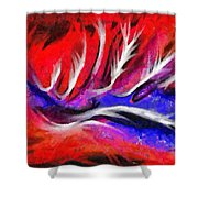 Abstract #45 Shower Curtain