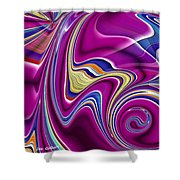 Abstract #49 Shower Curtain