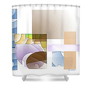 Abstract #503 Shower Curtain