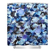 Abstract 517 Shower Curtain
