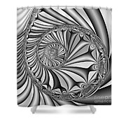 Abstract 527 Bw Shower Curtain