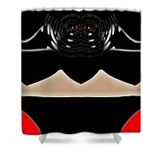 Abstract 54 Dark Side Shower Curtain