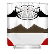 Abstract 54 Shower Curtain