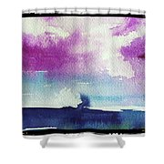 Purple Sky's  Shower Curtain
