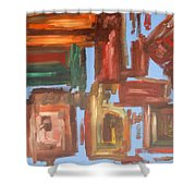 Abstract 611 Shower Curtain