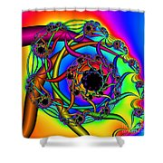 Abstract 65 Shower Curtain