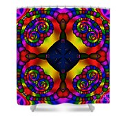 Abstract 650 Shower Curtain
