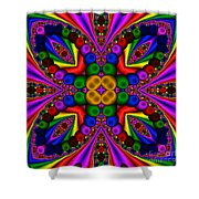 Abstract 659 Shower Curtain