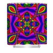 Abstract 663 Shower Curtain