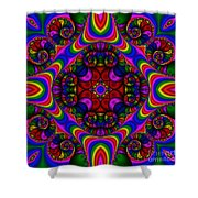 Abstract 667 Shower Curtain