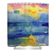 Floating In Blue Shower Curtain