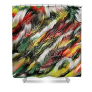 Digital Abstract #7  Shower Curtain