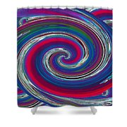 Abstract 7 Shower Curtain