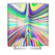 Abstract 701 Shower Curtain