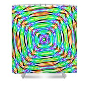 Abstract 709 Shower Curtain