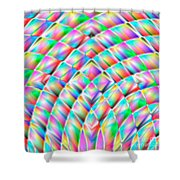 Abstract 713 Shower Curtain