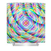 Abstract 722 Shower Curtain