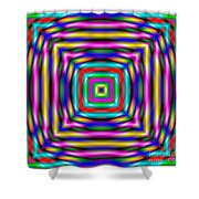 Abstract 727 Shower Curtain