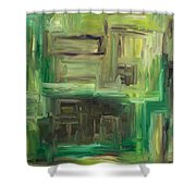 Abstract 742 Shower Curtain