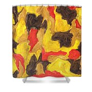 Abstract 746 Shower Curtain