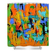 Abstract 7761701 Shower Curtain