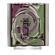 Abstract 8 Shower Curtain