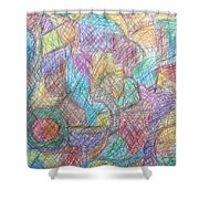 Abstract 801 Shower Curtain