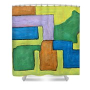 Abstract 809 Shower Curtain