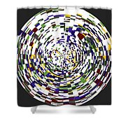 Abstract 813 Shower Curtain