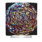 Abstract 814 Shower Curtain