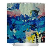 Abstract 889011 Shower Curtain