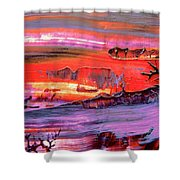 Abstract 9032 Shower Curtain