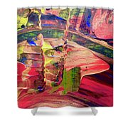 Abstract 9096 Shower Curtain