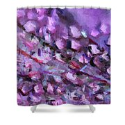Abstract 91 Digital Oil Painting On Canvas Full Of Texture And Brig Shower Curtain