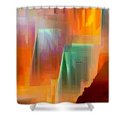 Abstract 9364 Shower Curtain