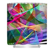 Abstract 9488 Shower Curtain