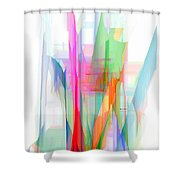 Abstract 9501-001 Shower Curtain