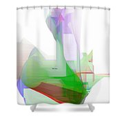 Abstract 9506-001 Shower Curtain