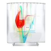 Abstract 9507 Shower Curtain
