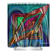 Abstract 9554 Shower Curtain
