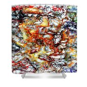 Abstract 9591 Shower Curtain