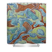 Abstract 972 Shower Curtain
