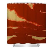 Abstract American Flag - Red, White And Blue The Star Spangled Banner Shower Curtain by Adam Asar