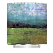 Abstract Aqua Sky Landscape Shower Curtain