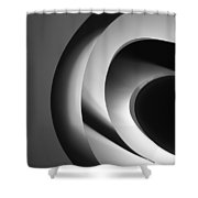 Abstract Architectural Ceiling, Curves And Round Lines Shower Curtain