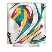 Abstract Art 105 Shower Curtain