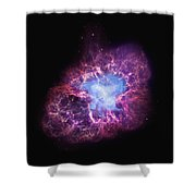 Abstract Heavenly Art - The Crab Nebula Shower Curtain