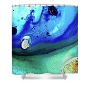 Abstract Art - Making Waves - Sharon Cummings Shower Curtain